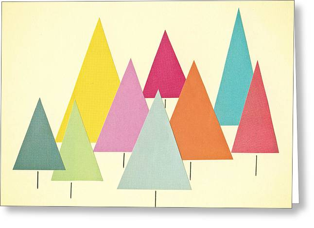 Fir Trees Greeting Card by Cassia Beck
