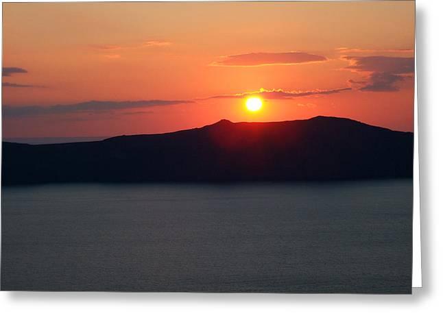 Firastefani Sunset Greeting Card