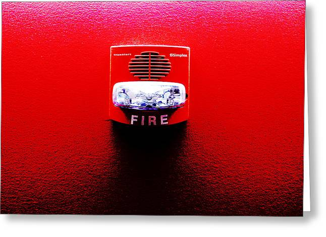 Fire Alarm Strobe Greeting Card