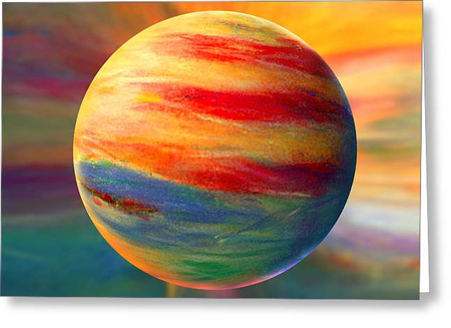Fire And Ice Ball  Greeting Card by Robin Moline