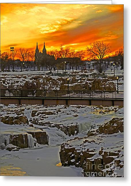 Fire And Ice Greeting Card by Elizabeth Winter