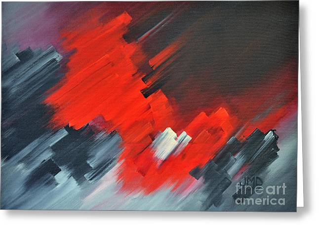 Fire And Ice Greeting Card by Janice DeAngelis