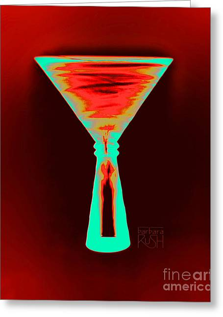 Fire And Ice Martini Greeting Card