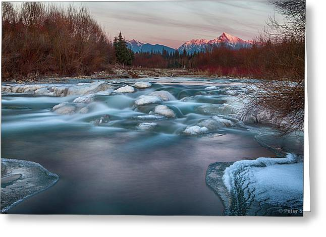 Fire And Ice Greeting Card by Peter Svoboda, Mqep