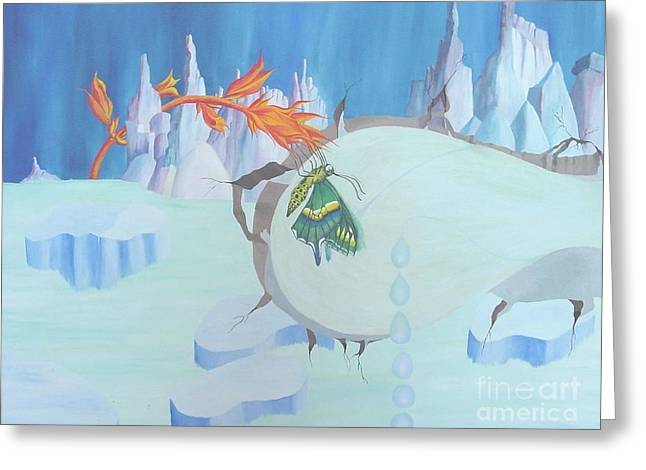 Fire And Ice Greeting Card by Richard Dotson