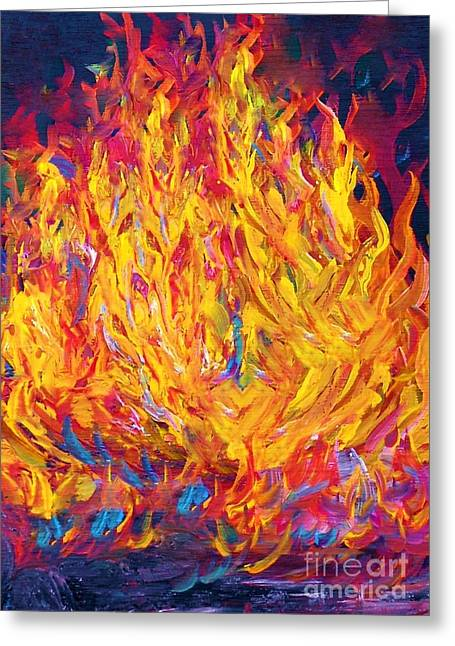 Fire And Passion - Here's To New Beginnings Greeting Card by Eloise Schneider