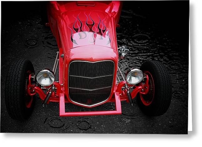 Classic Car Greeting Card featuring the photograph Fire And Water by Aaron Berg