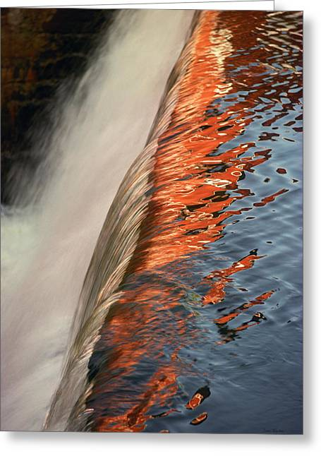Fire And Water Greeting Card by Bruce Thompson