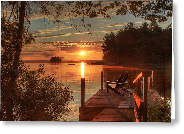 Fire And Water Greeting Card by Lori Deiter