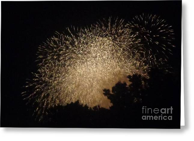 Greeting Card featuring the photograph Fire Art by Christina Verdgeline