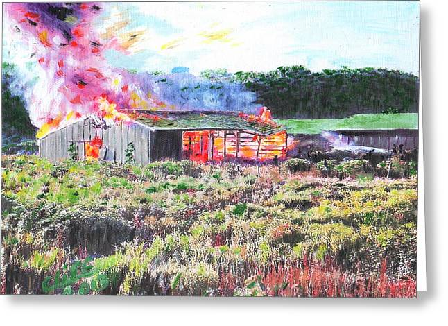 Fire At Whitney Beef Greeting Card