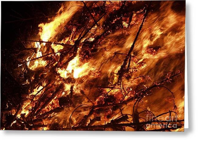 Fire Blaze Greeting Card