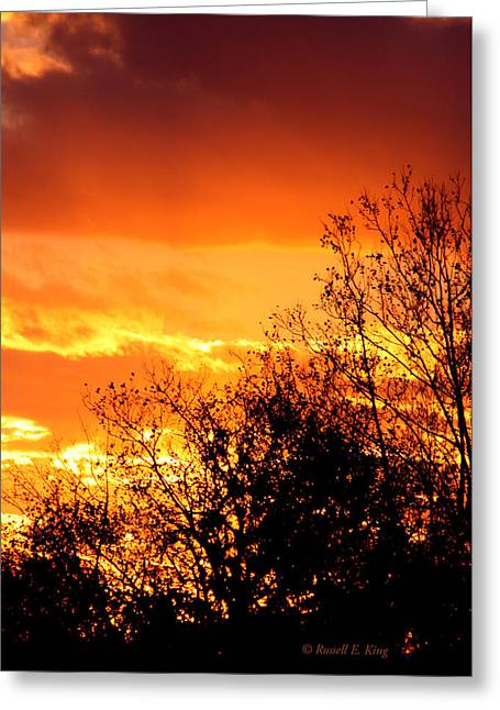 Fire Breather Greeting Card by Russell  King