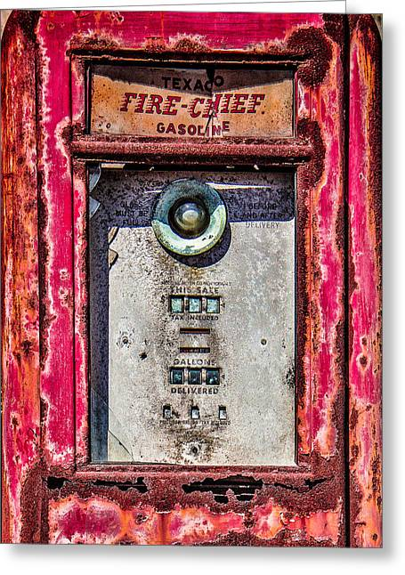 Greeting Card featuring the photograph Fire Chief Gas by Steven Bateson