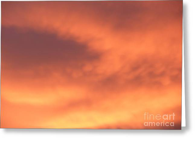 Fire Clouds Greeting Card by Joseph Baril