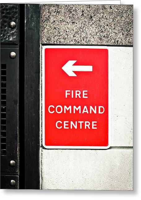 Fire Command Centre Greeting Card by Tom Gowanlock
