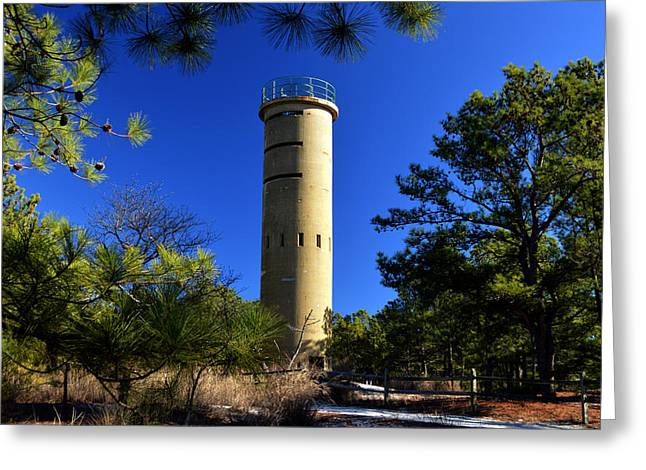 Greeting Card featuring the photograph Fct7 Fire Control Tower #7 - Observation Tower by Bill Swartwout