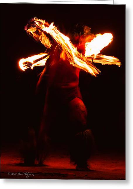 Fire Dancer 1 Greeting Card by Jim Thompson