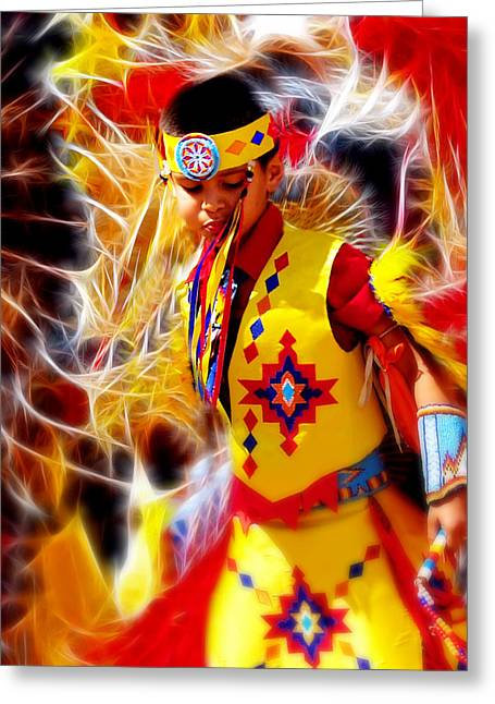 Fire Dancer Greeting Card