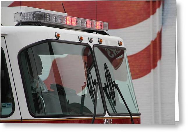 Fire Department Pride Greeting Card by Dan Sproul