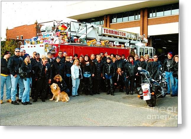 Fire Dept. Toy Run Greeting Card