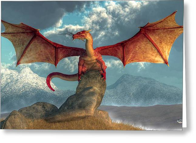 Fire Dragon Greeting Card