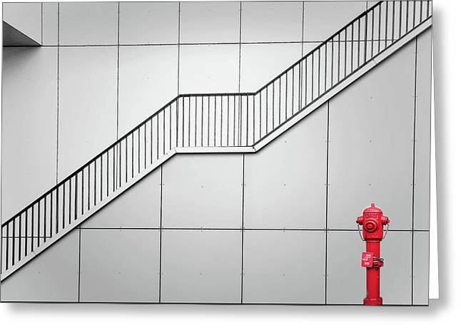 Fire Escape And Tap. Greeting Card