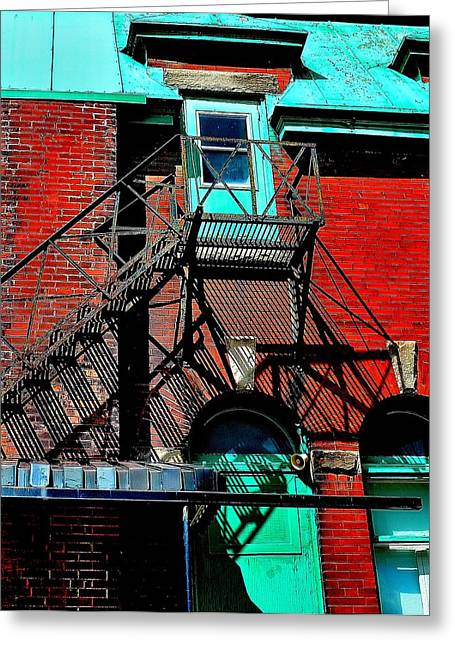 Fire Escape Imprints - Perspective 1 - Ontario - Canada Greeting Card