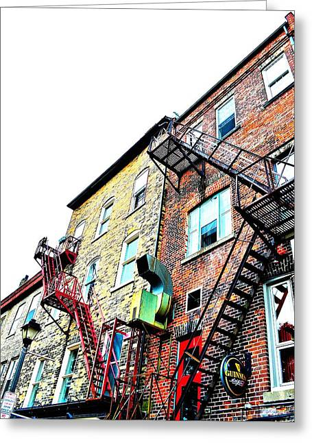 Fire Escape Lattice - Ontario - Canada Greeting Card