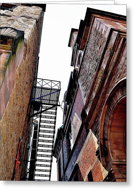 Fire Escape Pompous - Ontario - Canada Greeting Card