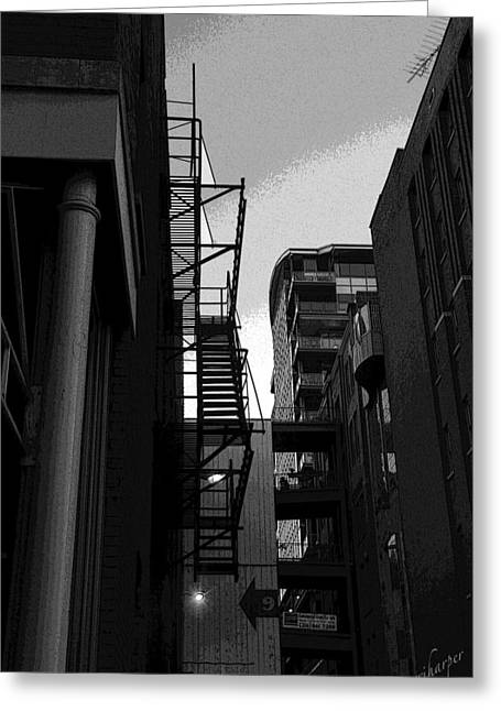 Greeting Card featuring the photograph Fire Escape by Terri Harper