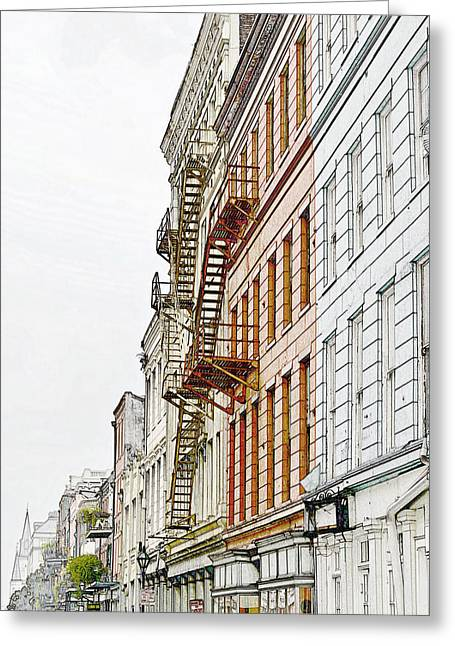 Fire Escapes New Orleans Greeting Card