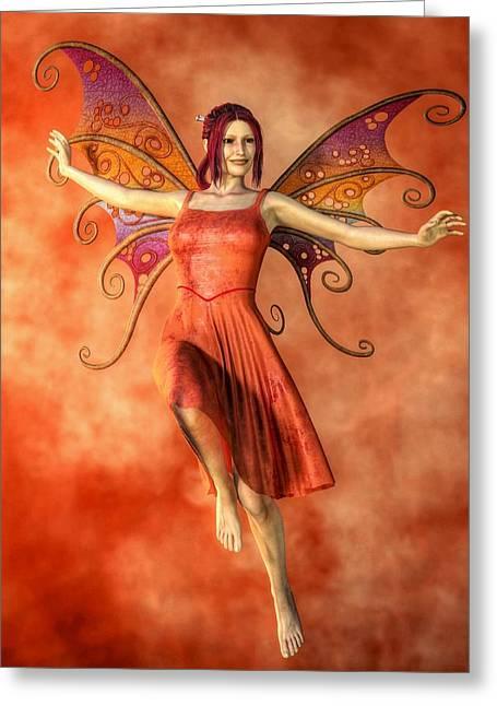 Fire Fairy Greeting Card by Kaylee Mason