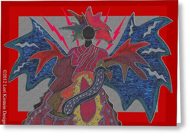 Fire Goddess Greeting Card by Lori Kirstein