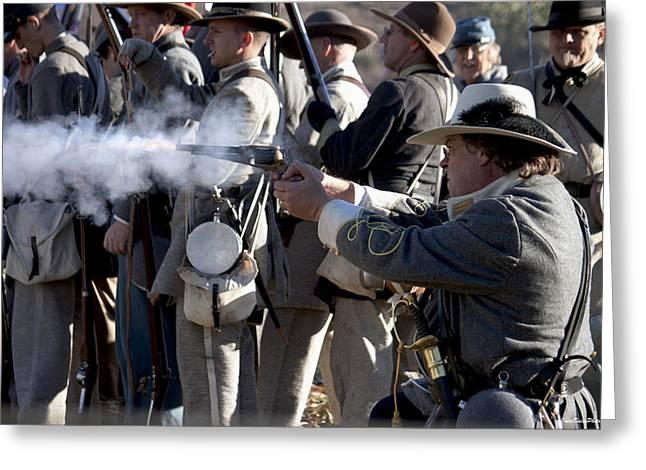 Fire Gun Greeting Card