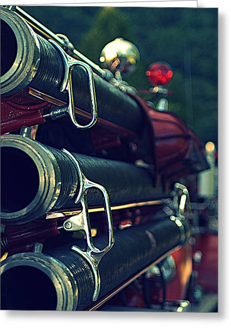 Fire Hoses Greeting Card