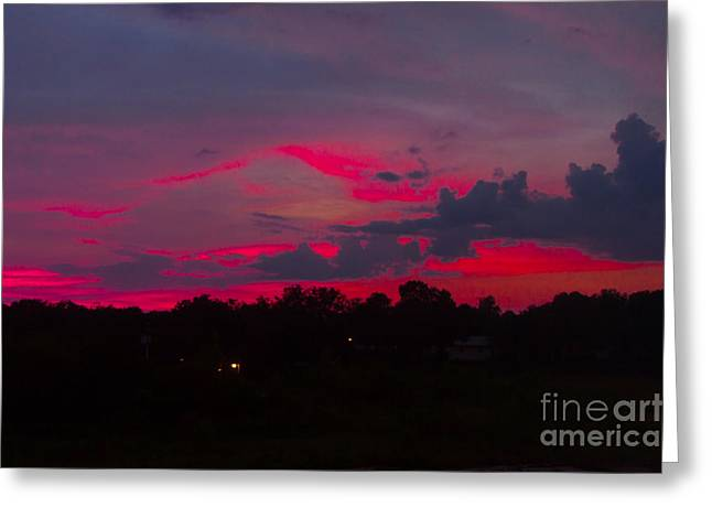 Fire In The Sky Greeting Card by Heather Roper