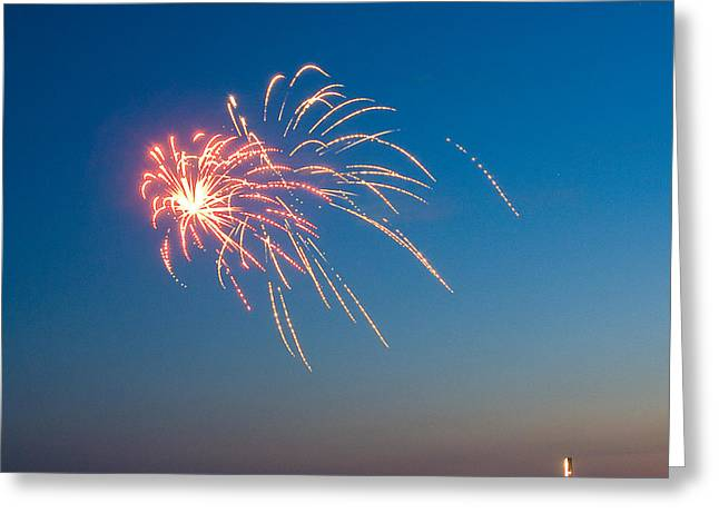 Fire In The Sky Greeting Card by Joe Scott