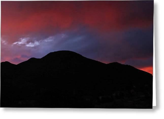 Fire In The Sky Greeting Card by Kandy Hurley