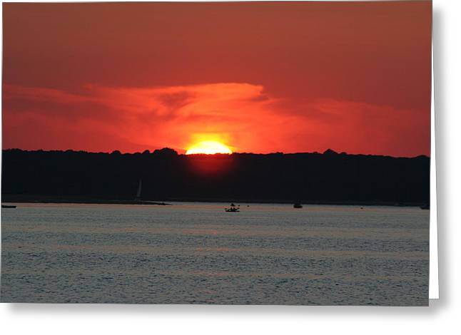 Greeting Card featuring the photograph Fire In The Sky by Karen Silvestri