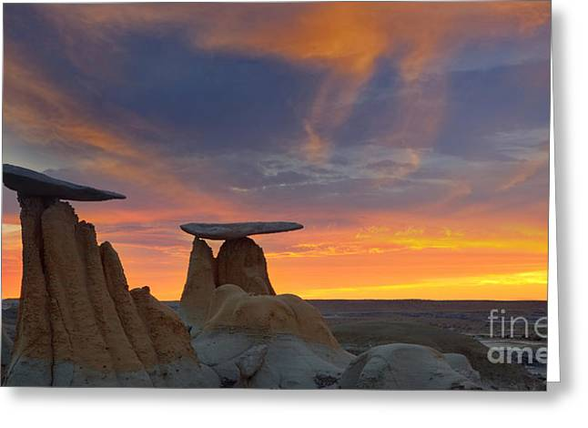 Fire In The Sky Greeting Card by Keith Kapple
