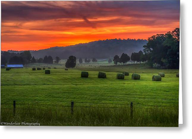 Fire In The Sky Greeting Card by Paul Herrmann