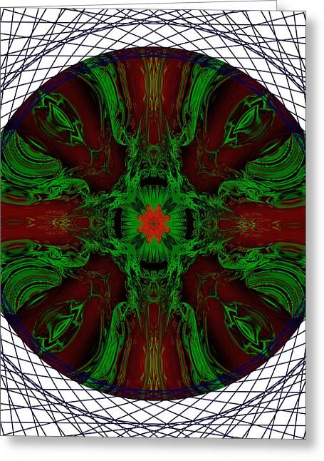 Fire In The Soul Mandala Greeting Card by Marie Jamieson