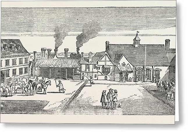 Fire In The Strand Site Of Arundel House North View Greeting Card by English School
