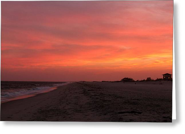 Fire Island Sunset Greeting Card by Haren Images- Kriss Haren
