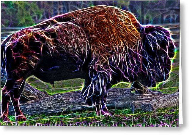 Fire Of A Bison  Greeting Card