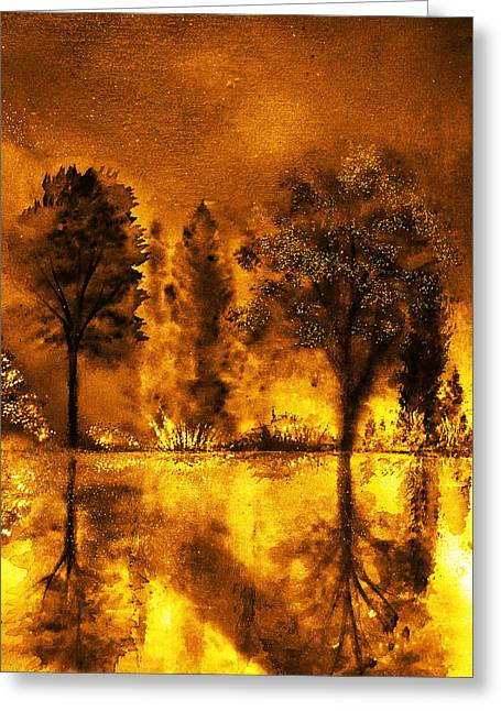 Fire Of Angels Greeting Card by Ann Marie Bone