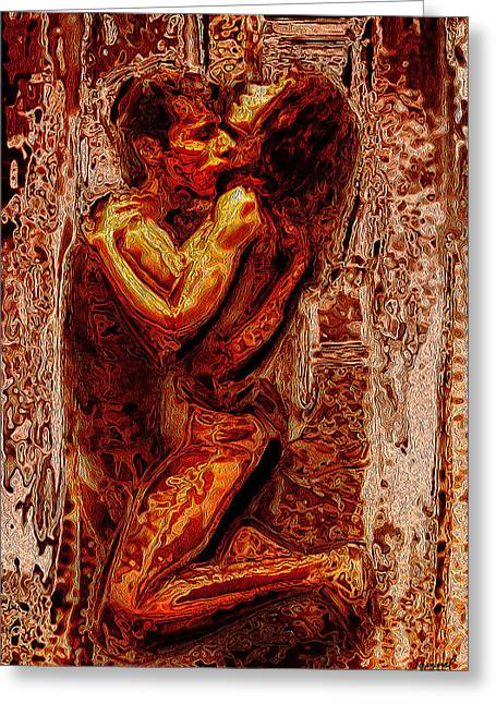 Fire Of Love Greeting Card by Samarel