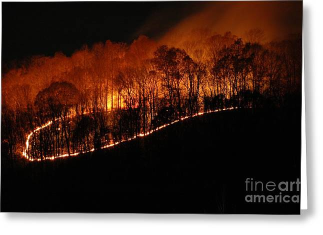 Fire On The Mountain Greeting Card by Steven Townsend