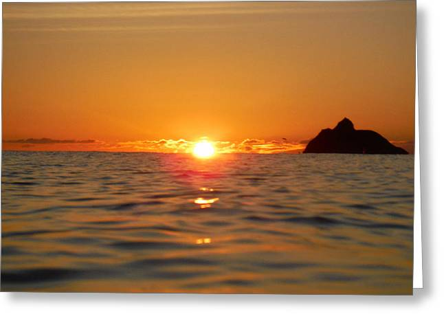Fire On The Ocean  Greeting Card by Bill Reynolds